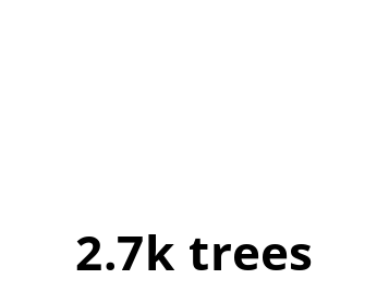 We plant trees with Ecologi